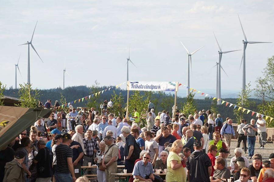 Invigning Vindpark Björkhöjden